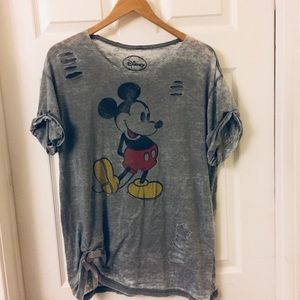 Disney | Distressed Mickey Mouse T-shirt | XL